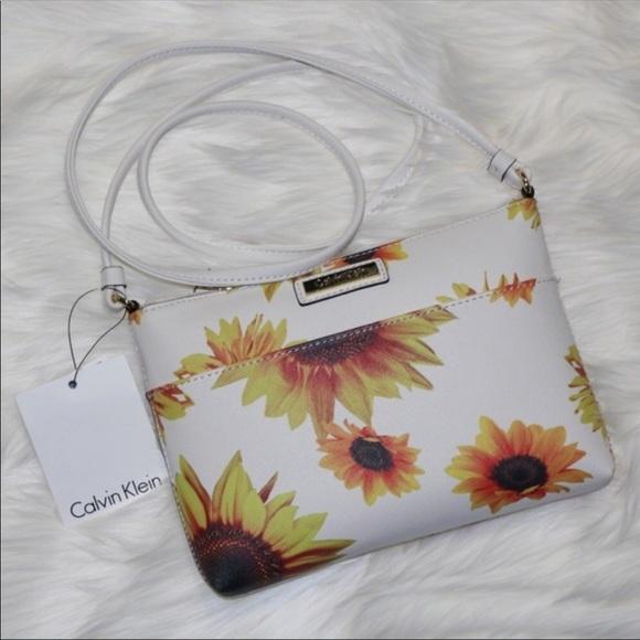 31197f47a0f Calvin Klein Bags   Last Chance Nwt Sunflower Crossbody   Poshmark